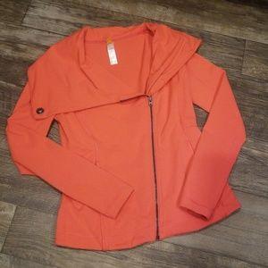Lucy activewear asymmetrical zip-up jacket